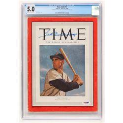 "Ted Williams Signed 1950 ""Time"" Magazine (PSA LOA  CGC Encapsulated - 5.0)"