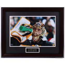 Tuukka Rask Signed Bruins 20x25 Custom Framed Photo Display (Rask COA)