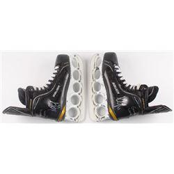 """Dennis Seidenberg Signed Pair of (2) Game-Used Bruins Hockey Skates Inscribed """"Game Worn"""" (Seidenber"""
