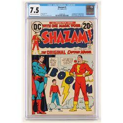 """1973 """"Shazam! The Original Captain Marvel"""" Issue #1 DC Comic Book (CGC 7.5)"""