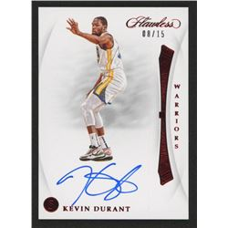 Kevin Durant 2018-19 Panini Flawless VS. Signatures Right Ruby #1