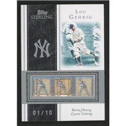 Lou Gehrig 2008 Topps Sterling Stardom Relics Triple #3SS66