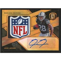 Josh Jacobs 2019 Panini Gold Standard Rookie Jersey Autographs Jumbo NFL Shield #308