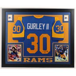Todd Gurley Signed 35x43 Custom Framed Jersey (Beckett Hologram)