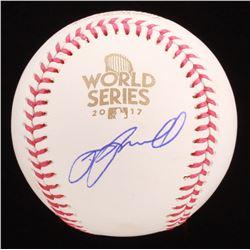 Jeff Bagwell Signed 2017 World Series Baseball (Beckett COA)