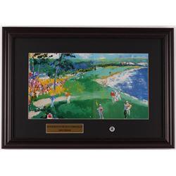 "LeRoy Neiman ""Jack Nicklaus On The 18th"" 15.5x22 Custom Framed Print Display with Original 1972 US O"