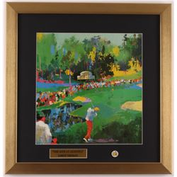 """LeRoy Neiman """"The 16th At Augusta"""" 17x17.5 Custom Framed Print Display with Vintage Masters Pin"""