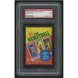 1980 Topps Basketball Unopened Wax Pack (PSA 7)