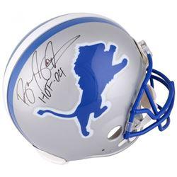 "Barry Sanders Signed Detroit Lions Full-Size Authentic On-Field Helmet Inscribed ""HOF '04"" (Fanatics"