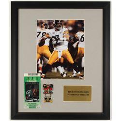 Ben Roethlisberger Steelers 16x19 Custom Framed Photo Display with Original Super Bowl XL Ticket  Ch