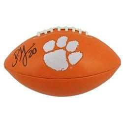 Brian Dawkins Signed Clemson Tigers Logo Football (Beckett COA)