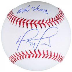 "David Ortiz Signed Baseball Inscribed ""Boston Strong"" (Fanatics Hologram  MLB Hologram)"