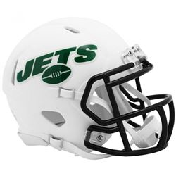 Jets Matte White Speed Mini Helmet