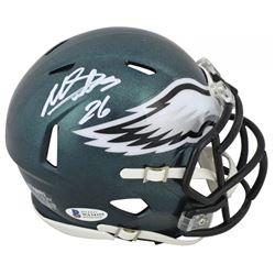 Miles Sanders Signed Philadelphia Eagles Speed Mini Helmet (Beckett COA)