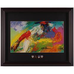 "LeRoy Neiman ""Bob Gibson"" 16.5x20.5 Custom Framed Print Display with Cardinals Pin"