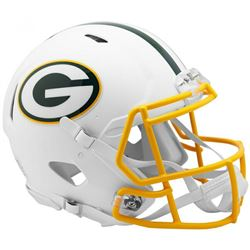 Packers Full-Size Authentic On-Field Matte White Speed Helmet
