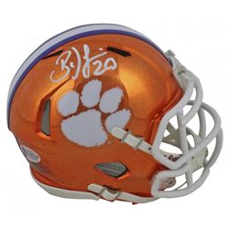 Brian Dawkins Signed Clemson Tigers Chrome Speed Mini-Helmet (Beckett COA)