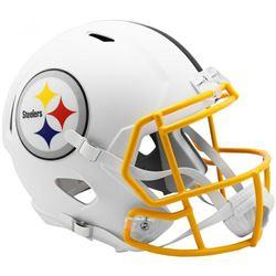 Steelers Full-Size Matte White Speed Helmet