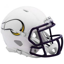 Vikings Matte White Speed Mini Helmet