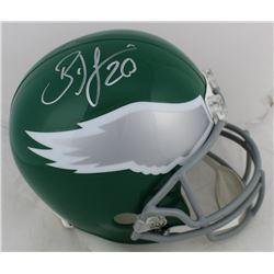 Brian Dawkins Signed Eagles Throwback Full-Size Helmet (Beckett COA)
