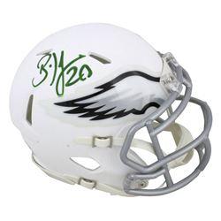 Brian Dawkins Signed Philadelphia Eagles Matte White Speed Mini-Helmet (Beckett COA)