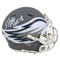 "Brian Dawkins Signed Eagles AMP Alternate Speed Mini Helmet Inscribed ""HOF 18"" (Beckett COA)"