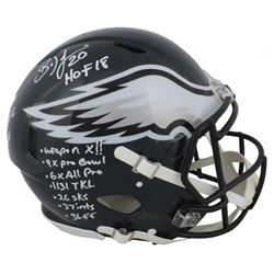 Brian Dawkins Signed Eagles Full-Size Authentic On-Field Speed Helmet with Multiple Career Stat Insc