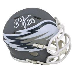 Brian Dawkins Signed Eagles AMP Alternate Speed Mini Helmet (Beckett COA)