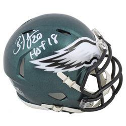 "Brian Dawkins Signed Eagles Speed Mini Helmet Inscribed ""HOF 18"" (Beckett COA)"
