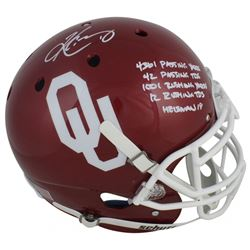 Kyler Murray Signed Sooners Full-Size Authentic On-Field Helmet with Multiple Career Stat Inscriptio