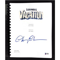 """Chevy Chase Signed """"National Lampoon's Vacation"""" Movie Script (Beckett COA)"""