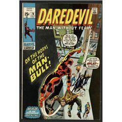 """Stan Lee Signed 1964 """"Daredevil"""" #78 Marvel Comic Book (PSA Hologram)"""