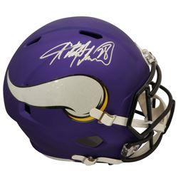 Adrian Peterson Signed Vikings Full-Size Authentic On-Field Matte Speed Helmet (Beckett COA)