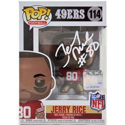 Jerry Rice Signed 49ers #114 Funko Pop! Vinyl Figure (Beckett COA)