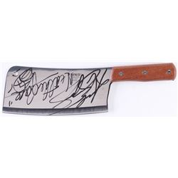 """Andrew Bryniarski Signed """"The Texas Chainsaw Massacre"""" Stainless Steel Cleaver Inscribed """"Leatherfac"""
