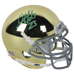 Golden Tate Signed Notre Dame Fighting Irish Chrome Mini Helmet (Beckett COA)