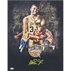 Magic Johnson Signed Lakers 16x20 Photo (Beckett COA)