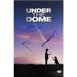 """Dean Norris, Mike Vogel  Rachelle Lefevre Signed """"Under The Dome"""" 12x18 Photo (PSA LOA)"""