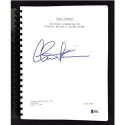 """Charlie Sheen Signed """"Wall Street"""" Movie Script (Beckett COA)"""