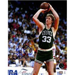 Larry Bird Signed Celtics 8x10 Photo (Bird Hologram)