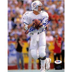 Dan Marino Signed Dolphins 8x10 Photo (PSA COA  Marino Hologram)