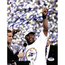 Ray Lewis Signed Ravens 8x10 Photo (PSA COA)
