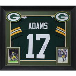 Davante Adams Signed 32x37 Custom Framed Jersey Display (JSA COA)