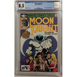 "1980 ""Moon Knight"" Issue #1B Marvel Comic Book (CGC 8.5)"