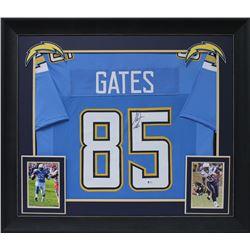 Antonio Gates Signed 32x37 Custom Framed Jersey Display (Beckett COA)