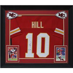 Tyreek Hill Signed 32x37 Custom Framed Jersey Display (JSA COA)