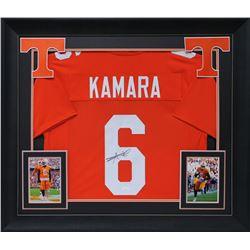 Alvin Kamara Signed 32x37 Custom Framed Jersey Display (JSA COA)