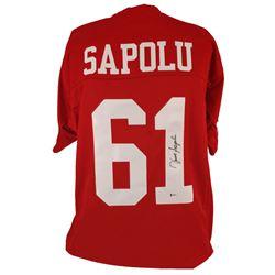 Jesse Sapolu Signed Jersey (Beckett COA)