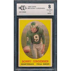 Sonny Jurgensen 1958 Topps #90 RC (BCCG 8)