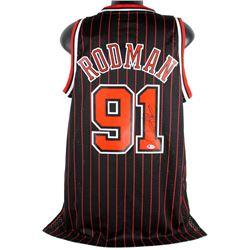 Dennis Rodman Signed Bulls Jersey (Beckett COA)